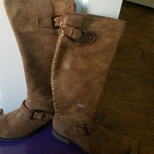 Tan madden girl boots